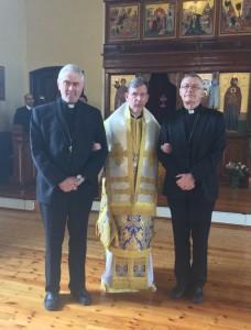 Biskop og prost sammen med metropolitt Kleopas - 29 mars 2015 - IMG_0471