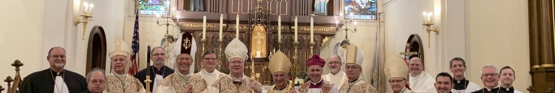 Bishop Jaroslaw Rafalko with consecrators,  chaplains and invitee Bishop Kevin Donlon, Anglican Union